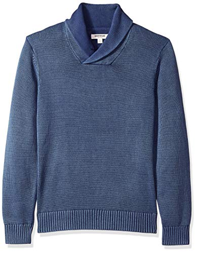 Goodthreads Men's Soft Cotton Shawl Pullover Sweater, Washed Blue, X-Large - 100 Cotton Sweatshirts