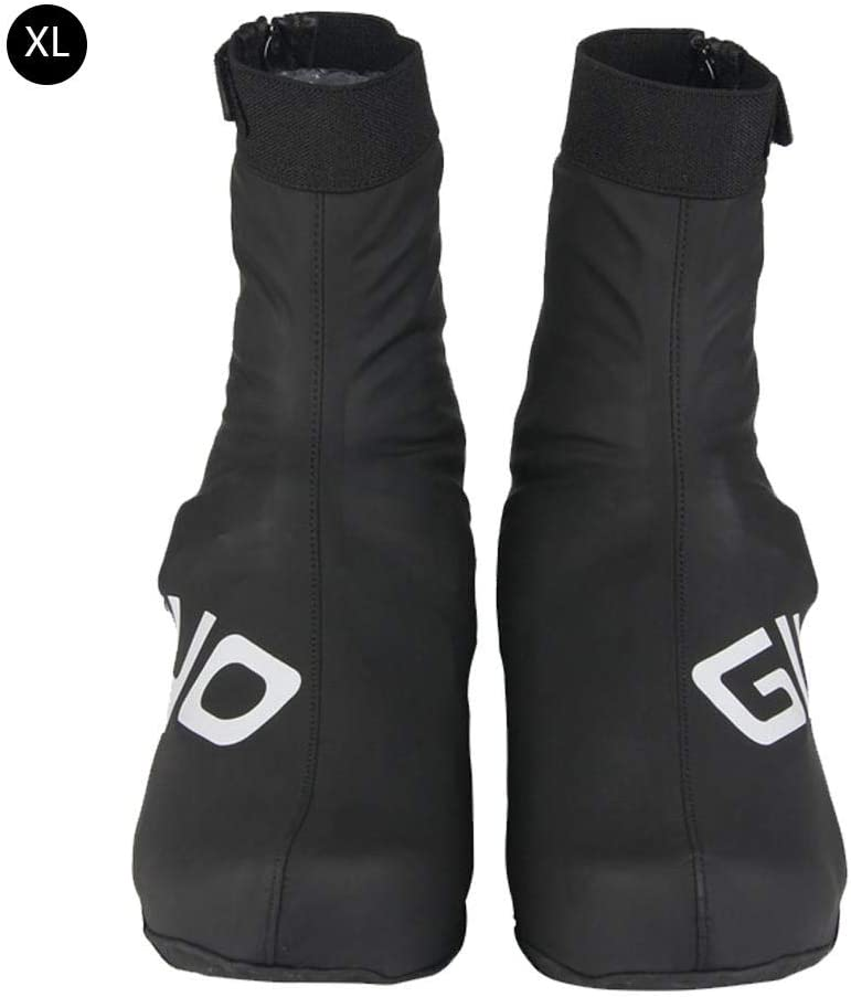liuxi Overshoes Waterproof Reusable Thickened Sole Reflective Thermal Shoes Covers MTB Road Bike Cycling Racing Overshoes Cycling Overshoes 43-45 as shown