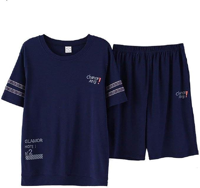 Manga Corta para Hombre Pijamas El Algodón De Moda Servicio A ...