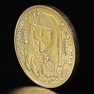 jiangxi WANXI Russian Animal Bear Commemorative Coin Collection Gift Souvenir: Home & Kitchen