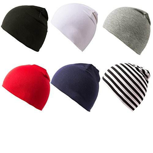 Amandir 6 Packs Toddler Infant Hats Knit Baby Beanies Cotton Soft Cute Newborn Baby Winter Hat Cap for Boys ()
