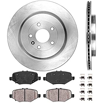 Power Stop KOE5584 Front//Rear 1-Click Replacement Brake Kit for Taurus//Explorer