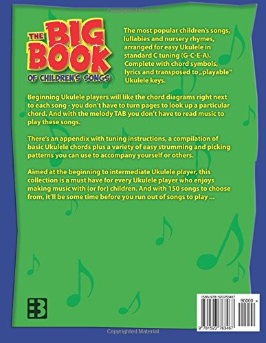 The Big Book Of Childrens Songs For Ukulele Thomas Balinger