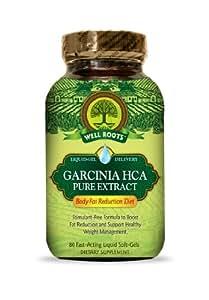 Well Roots Garcinia HCA Pure Extract Diet Supplement, 80 Count