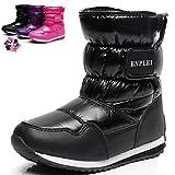 DADAWEN Boy's Girl's Outdoor Waterproof Cold Weather Fur Winter Snow Boots (Toddler/Little Kid/Big Kid)