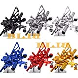 Frames & Fittings 8 Colors CNC Rearsets for Yamaha YZF R6 2006-2015 Rear Set Motorcycle Adjustable Foot Stakes Pegs Pedal 2011 2012 2013 2014