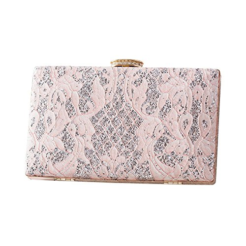 Sequin Female Bag Bag Pink Pink Bag Bag Bride Handbag Bag Clutch Bag Banquet Dinner Chain Rhinestone Wedding Fashion R6tx5