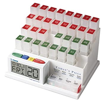 The MedCenter System - Talking Monthly Medication Organizer and Alarm