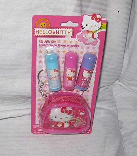 Hello Kitty Gift Set 4 Pc Multi Flavored Lip Jelly Set with Carry Case