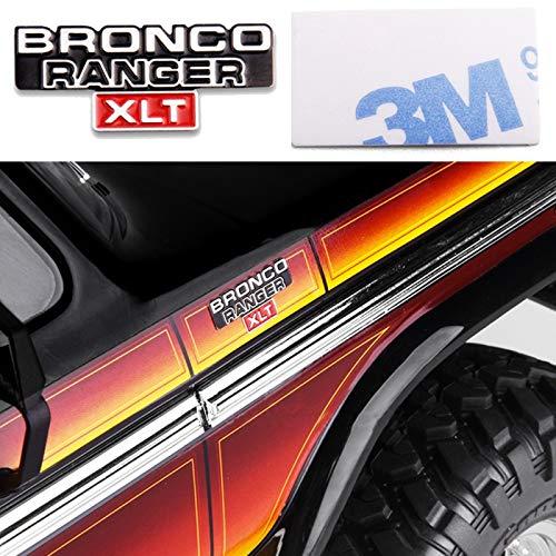 XHS GRC TRX4 Side Front Metal Logo for TRX4 Bronco Ranger T4 Ford