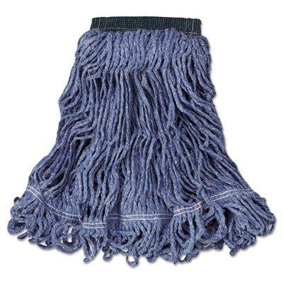 Rubbermaid Commercial C152BLU Swinger Loop Wet Mop Head, Medium, Cotton/Synthetic, Blue (Case of 6)
