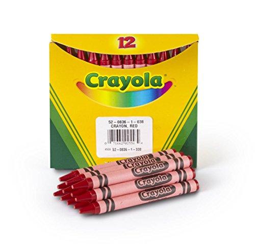 (Crayola Bulk Crayons, Regular Size - Red (12 per box))