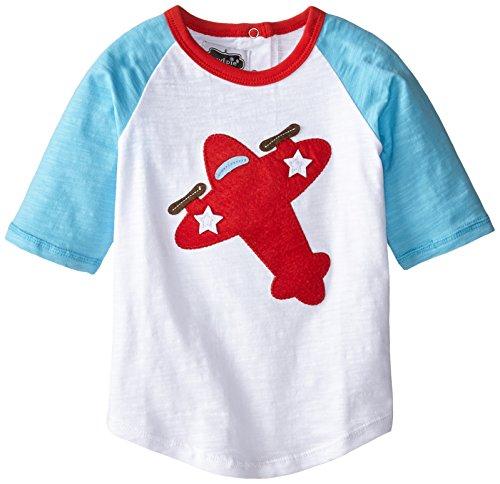 Mud Pie Little Boys' Airplane Shirt, Blue, Medium (Mud Pie Little Boy compare prices)