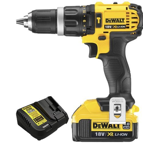 DEWALT DCD785N 18v XR Li-ion 2 Speed Combi Drill Body + 1 x 4.0ah Battery & Charger, 18 V