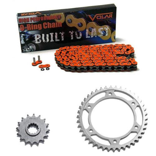- 2007-2016 Honda CBR600RR O-Ring Chain and Sprocket Kit - Orange