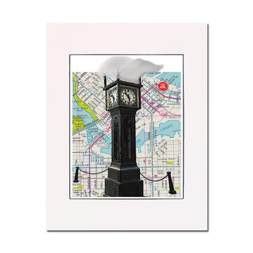 Steam Clock, Gas Town, Vancouver, BC fine art print. Enhance your home or office. Gallery quality. Matted and - Gastown Vancouver