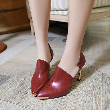 mujeres sandalias Primavera Verano Otoño los zapatos del club del brillo personalizada Materiales oficina y carrera boda de tacón de aguja casual Plata Oro Red