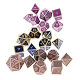 SunniMix 21x Traiditional Board Game Dice D4 D6 D8 D10 D12 D20 for D&D Entertainment