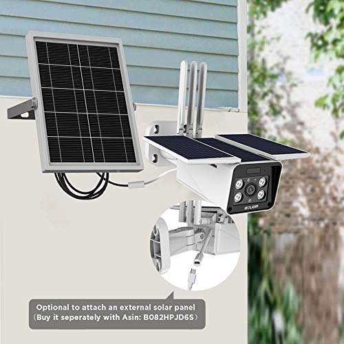 SOLIOM S90 Pro Outdoor Home Security Solar Battery Camera 1080P Wireless Smart IP Camera with Night