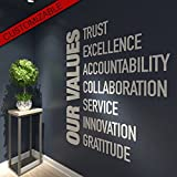 HomeArtDecor | Teamwork makes the Dreamwork Office Quotes | Suitable for Wall Office and Home | High Quality Polyvinyl Chloride | Office Decoration | Home Decoration | Easy to Apply | Fretwork