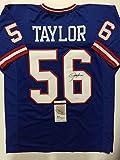 Autographed/Signed Lawrence Taylor New York Giants Blue Football Jersey JSA COA
