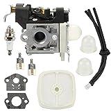 Butom Carburetor+Air Filter+Fuel Filter+Fuel Line Kit for Echo PB265LN PB251 PB265L Blower RB-K85 A021001350 A021001351 A021001352 Carb