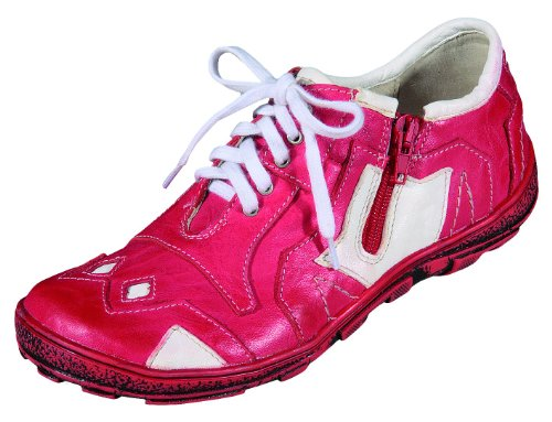 Flats Loafer Womens Miccos weiss rot EnYFRnwxaq