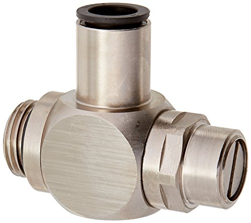 Parker 7130 04 10 Pneumatic Flow Control Regulator, Nickel-Plated Brass, BSPP Banjo Exhaust, G1/8 and 4 mm
