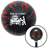 flame shifter knob - American Shifter Company ASCSNX1547450 White Only On A Jeep Black Flame Metal Flake Shift Knob with M16 x 1.5 Insert