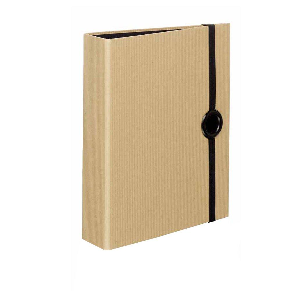 Rössler 1316422003 - Archivador (para formato DIN A5, con tirador), color negro y beige: Amazon.es: Oficina y papelería