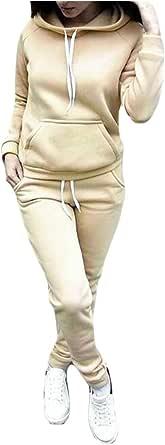 FSSE Women 2 PCS Outfits Hoodie Sweatshirt Pants Casual Tracksuits Sweatsuits Sets