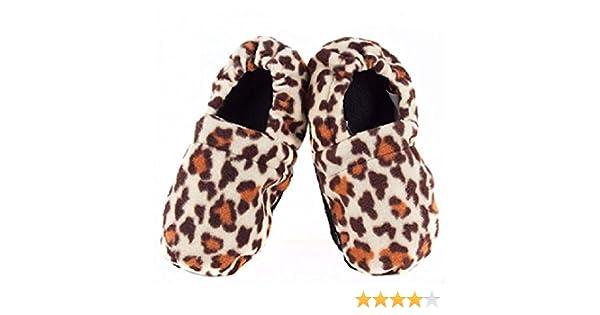 Zapatillas de estar en Casa Calentables en el Microondas Leopardo ...