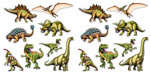 Beistle 59644 Dinosaur Cutouts 16 Piece, 10