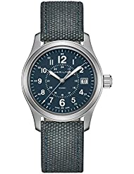 Mens Hamilton Khaki Field Quartz Blue Steel Military Watch H68201943