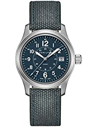 Men's Hamilton Khaki Field Quartz Blue Steel Military Watch H68201943