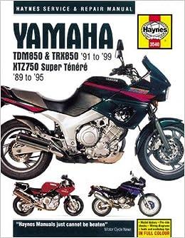 Yamaha TDM850, TRX850 & XTZ750 1989 - 1999 (Haynes Service & Repair Manual)