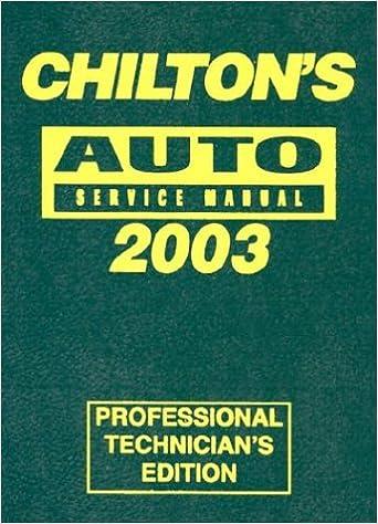 chilton vehicle service manuals