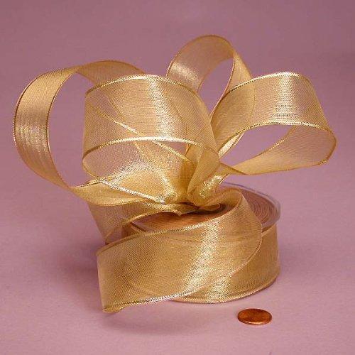 Gold Wired Metallic Ribbon, 1