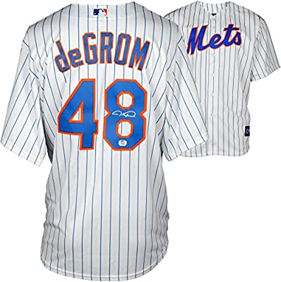Jacob deGrom New York Mets Autographed Replica White Jersey - Fanatics Authentic Certified - Autographed MLB Jerseys