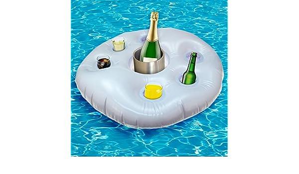 1 x XL Pool Bar hinchable Soporte para bebidas enfriador Pool salvavidas Jardín Bar: Amazon.es: Deportes y aire libre