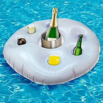 1 x XL Poolbar aufblasbar Getränkehalter Kühler Pool Rettungsring ...