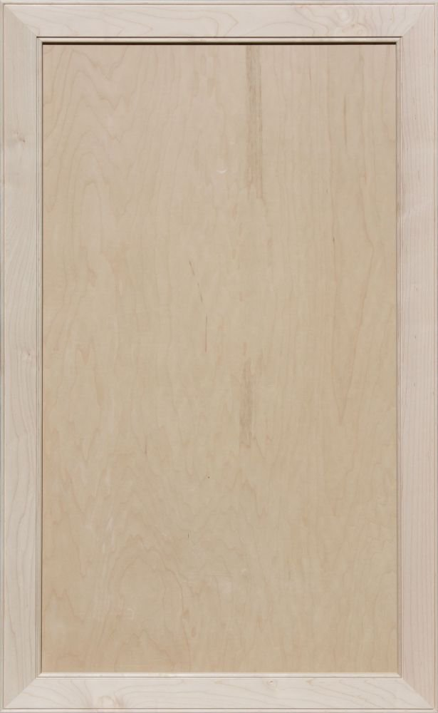 Unfinished Maple Mitered Flat Panel Cabinet Door by Kendor, 39H x 24W