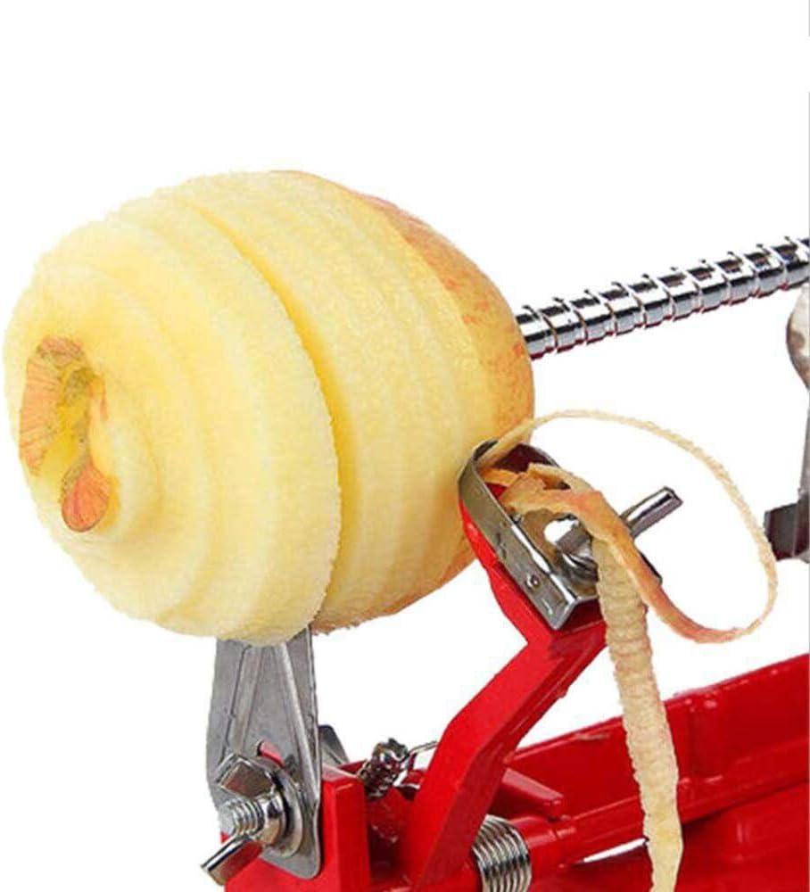 3 en 1 Pomme Peeler avec Aspiration Base En Acier Inoxydable Trancheur Corer Trancheuse Machine /À Fruit de Pommes De Terre Poire Carottage Outil pour La Cuisine /À La Maison