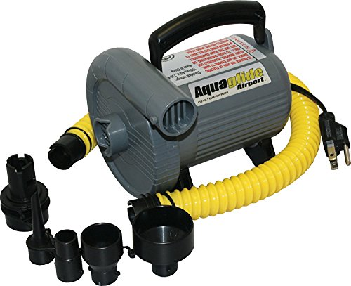 Aquaglide High output Electric Air inflator Pump (110 volt) (Electric Air Volt Pump)