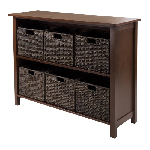 Review Winsome Granville 2-Section 7-Piece Storage Shelf Wide with 6-Foldable Baskets By Winsome by Winsome