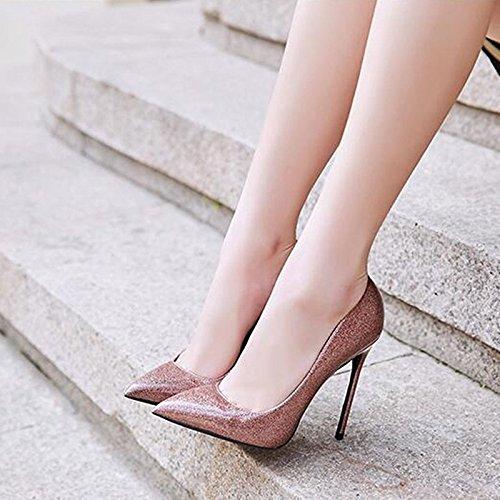 Discoteca 12cm Poco Tacones Banquete Bien de 10 Profunda con los apuntaron Mujer Boca Zapatos 10cm de de ZSqUOO