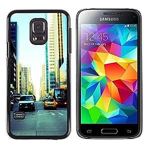 LECELL--Funda protectora / Cubierta / Piel For Samsung Galaxy S5 Mini, SM-G800 -- NYC Traffic --