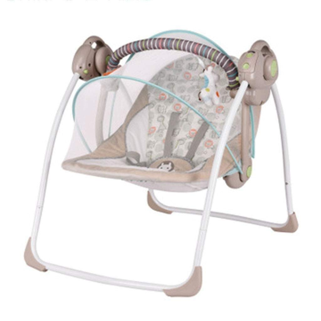 HNSYDS Baby Rocking Chair, Bluetooth Music Balance Remote Control Baby Rocking Chair, Electric Foldable Cradle Bed Lounge Chair Baby Rocking Chair by HNSYDS