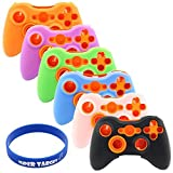 Super Soft Silicone Cover Case Skin for Microsoft Xbox 360 Controller (6 Colors Package)