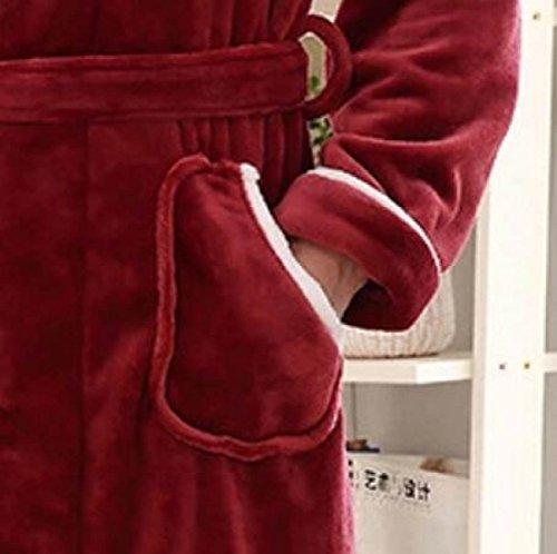Pannolino Lunghe Dimensioni Invernale A Inverno Accappatoio Maniche Flanella In Di Grey Per Caldo Casa Spazzolato La Grandi 0PX8nOwNk
